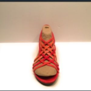 Impo Stretch Multi Color Cute Flat Wedge Sandal